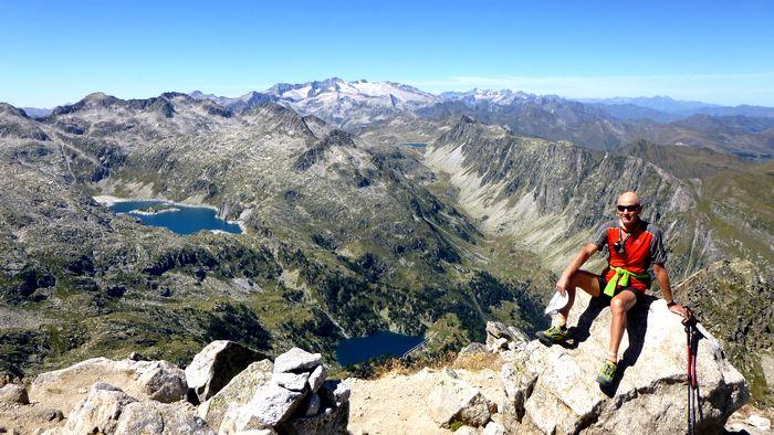 Au sommet du Pic Matardo