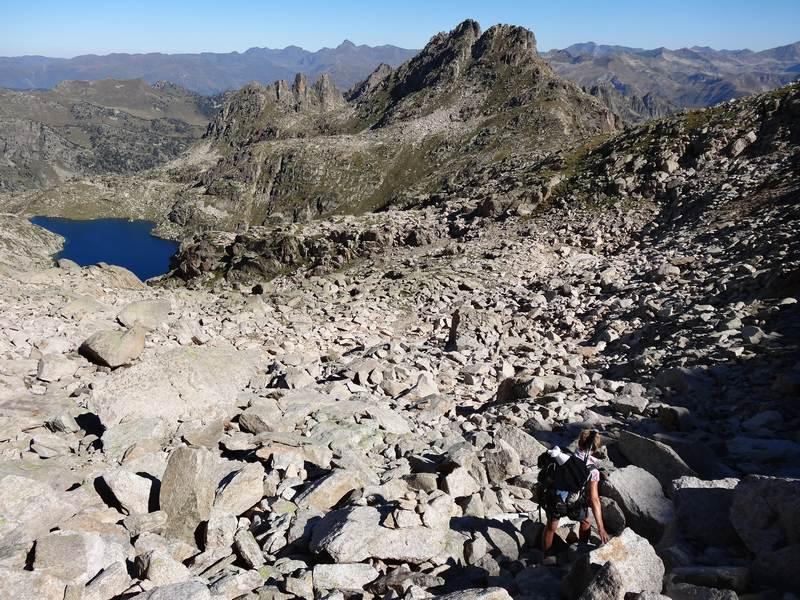 Descente vers Col du lac Glaçat