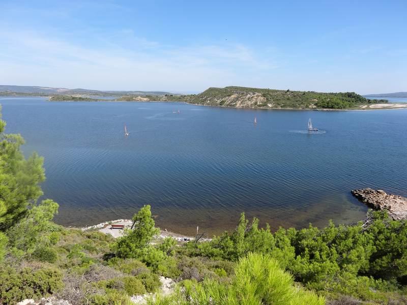 l'étang de Bage , Sigean et île Sainte Lucie