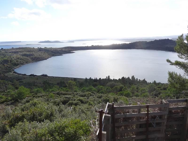Les étangs depuis le roc de Berrière