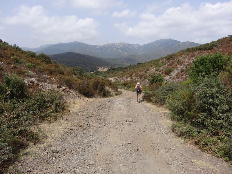 piste vers col de Banyuls