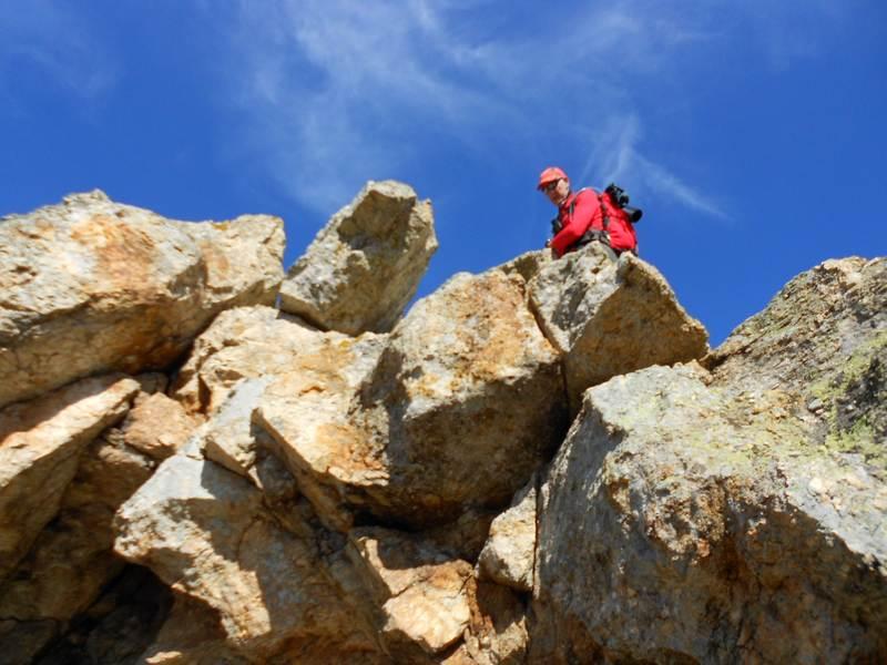 Au sommet du roc Moro